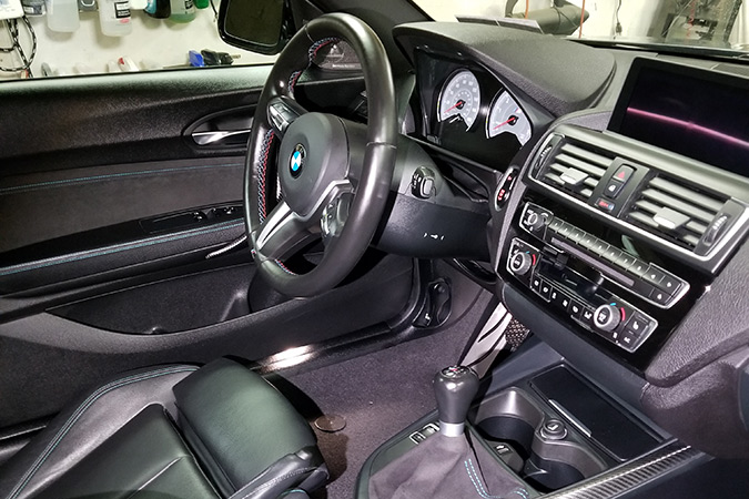 Interior Detail for a BMW M2 by Performance Detailz in Lancaster County, PA